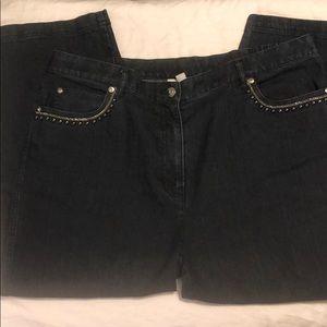 JM Collection Cropped embellished jeans 👖